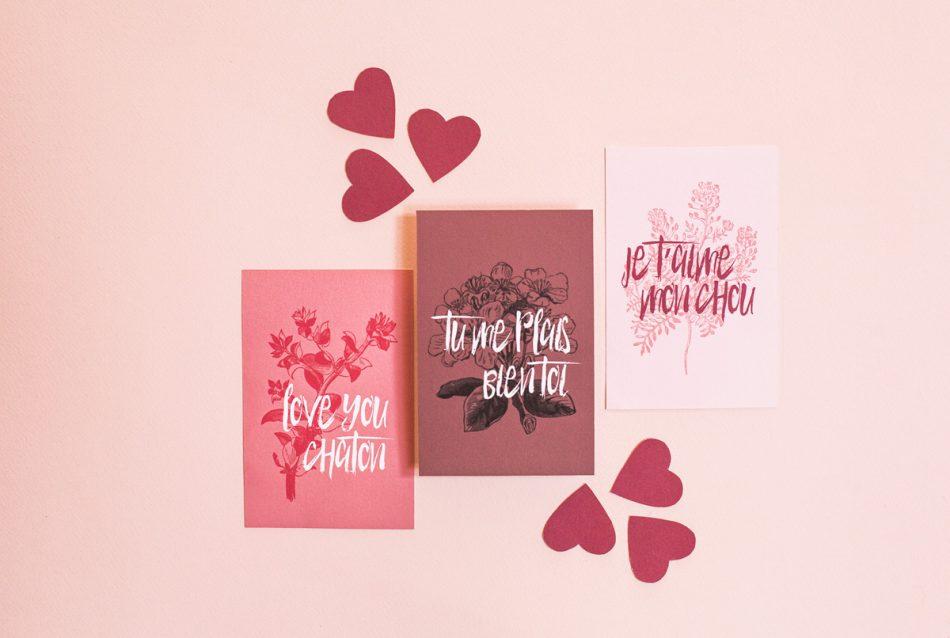 3 cartes à télécharger pour la saint valentin