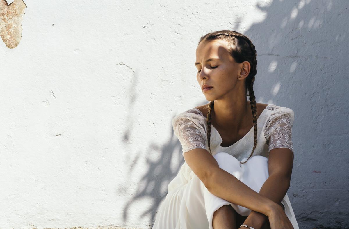 Mariée laure de sagazan et ses tresses tendance